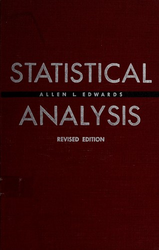 Statistical analysis by Allen Louis Edwards