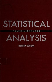 Cover of: Statistical analysis | Allen Louis Edwards