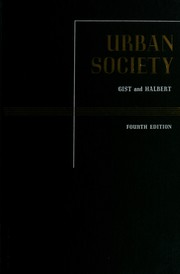 Urban society by Noel Pitts Gist