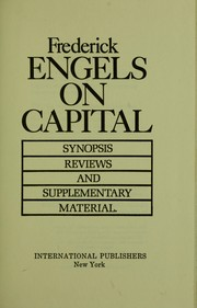 Cover of: On capital | Karl Marx