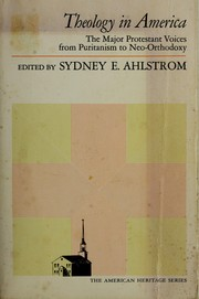 Cover of: Theology in America | Sydney E. Ahlstrom