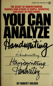 Cover of: You can analyze handwriting