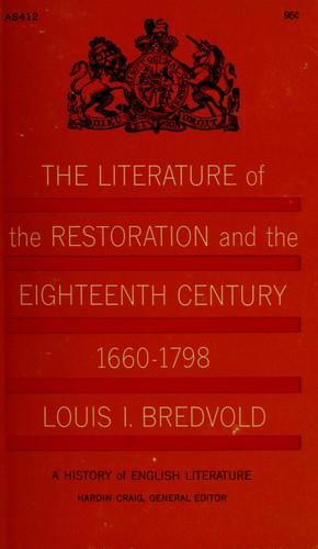 A history of English literature.