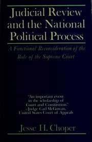 Cover of: Judicial review and the national political process