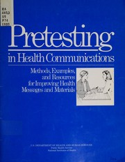 Cover of: Pretesting in health communications