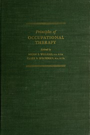 Cover of: Principles of occupational therapy