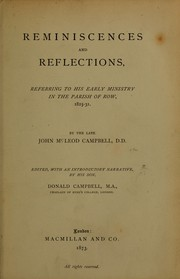 Cover of: Reminiscences and reflections