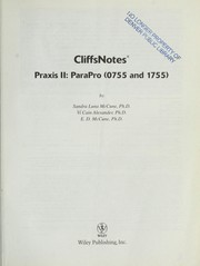 Cover of: Cliffsnotes praxis II