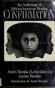 Cover of: Confirmation, an anthology of AfricanAmerican women