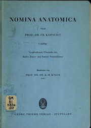 Cover of: Nomina anatomica