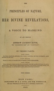 Cover of: The principles of nature, her divine revelations