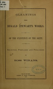 Cover of: Gleanings from Dugald Stewart's works