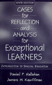 Cover of: Cases for reflection and analysis