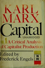 Cover of: Das Kapital