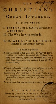 Cover of: The Christian's great interest