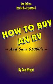 Cover of: How to Buy an Rv (And Save Thousands of Dollars)