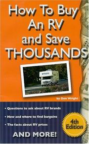 Cover of: How to Buy an RV and Save Thousands