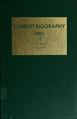 Current biography yearbook, 1983 by Charles Moritz
