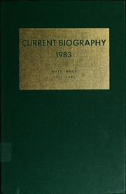 Cover of: Current biography yearbook, 1983 | Charles Moritz