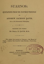 Cover of: Starnos: quotations from the inspired writings of Andrew Jackson Davis ...