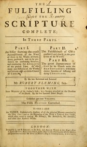 Cover of: Fulfilling of the Scripture | Fleming, Robert