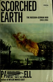 Cover of: Scorched earth: The Russian-German war, 1943-1944