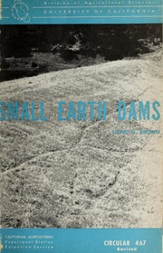 Cover of: Small earth dams