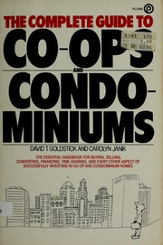 Cover of: Complete Guide to Coop and Condo | Arnold S. Goldstein, Carol Janik