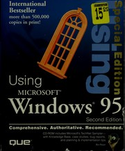 Cover of: Using Windows 95