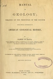 Cover of: Manual of geology | James D. Dana