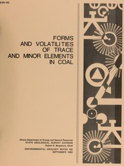 Cover of: Forms and volatilities of trace minor elements in coal