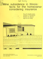 Cover of: Mine subsidence in Illinois | Paul B. DuMontelle