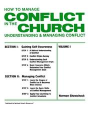 How to manage conflict in the church by Norman Shawchuck