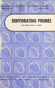 Cover of: Dehydrating prunes