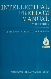 Cover of: Intellectual freedom manual | compiled by the Office for Intellectual Freedom of the American Library Association.