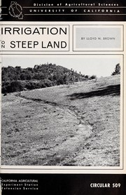 Cover of: Irrigation on steep land