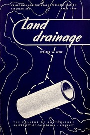 Cover of: Land drainage