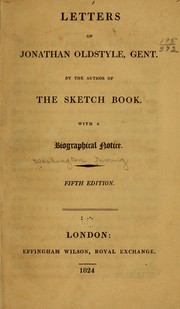 Cover of: Letters of Jonathan Oldstyle, gent