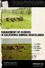 Cover of: Management of clovers on California annual grasslands