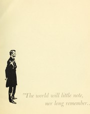 "Cover of: ""The world will little note nor long remember ...""."