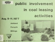 Cover of: Public involvement in coal leasing activities