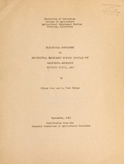 Cover of: Statistical supplement to Agricultural Experiment Station circular 373