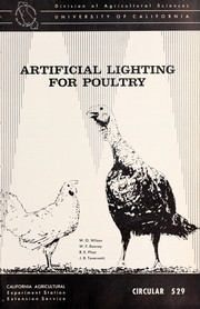 Cover of: Artificial lighting for poultry | Wilbor Owens Wilson