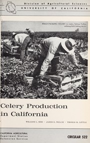 Celery production in California by W. L. Sims