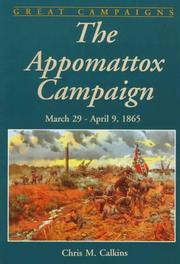 Cover of: The Appomattox campaign