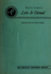 Cover of: Irving Stone's Love is eternal by Perry, Ruth