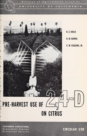 Cover of: Pre-harvest use of 2,4-D on citrus | H. Z. Hield