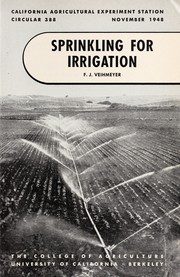 Cover of: Sprinkling for irrigation