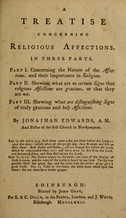 Cover of: A treatise concerning religious affections