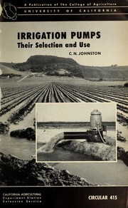 Cover of: Irrigation pumps